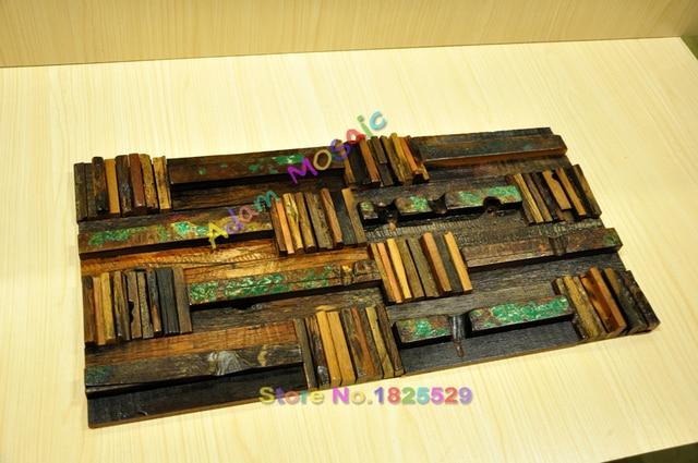 Legno parete 3d di legno backsplash cucina mosaico di piastrelle