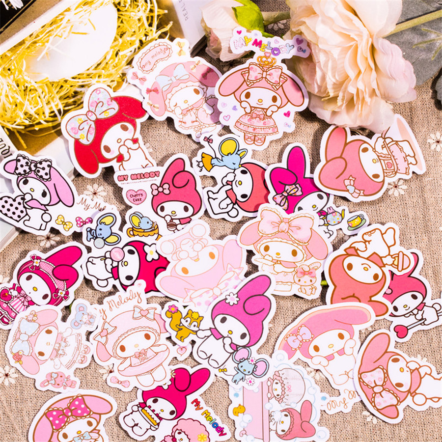 22 pcs homemade laptop stickers MyMelody2 Melody hand account album decorative diary scrapbooking