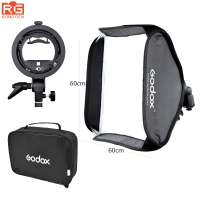 Godox 60 x 60cm Flash Softbox Kit with S Type Bracket Bowen Mount Holder For Camera Photo Studio