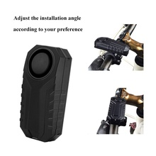 цена 113dB Wireless Anti-Theft Vibration Motorcycle Bicycle Waterproof Security Bike Alarm with Level 7 Adjustable Sensit Accessories