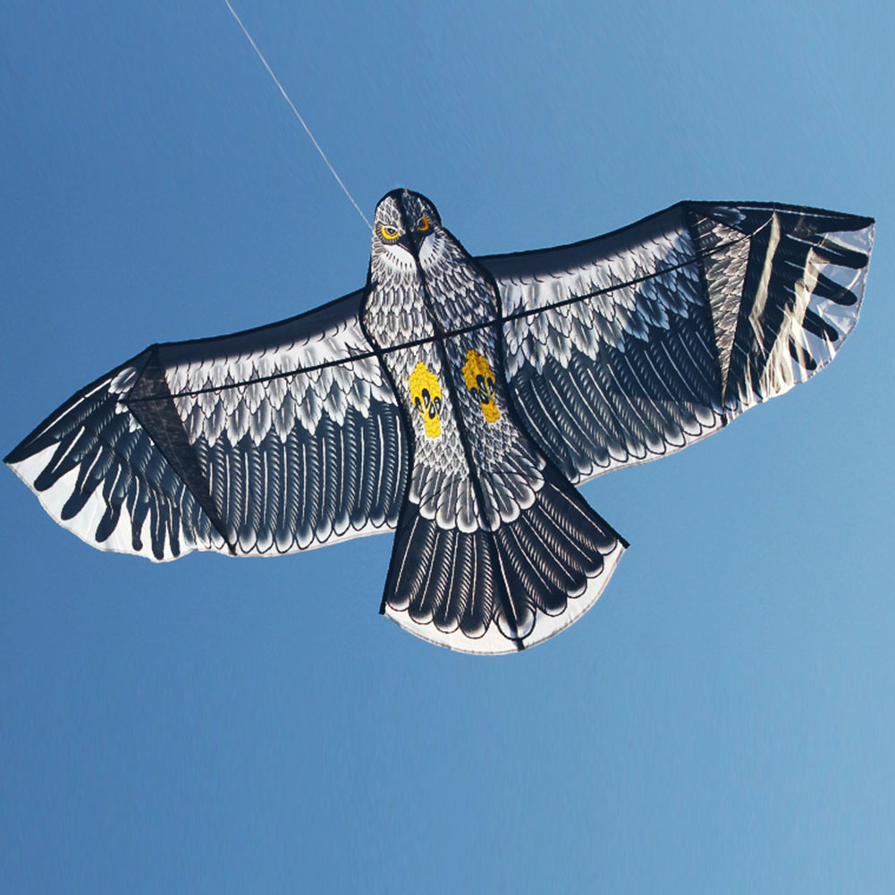 1.5m Flat Eagle Kite Children Flying Bird Kites Windsock Outdoor Toys Garden Cloth Toys For Kids Gift image