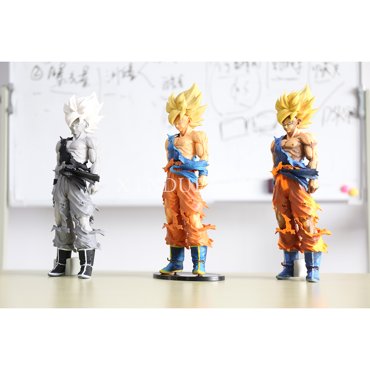 XINDUPLAN Dragon Ball Z Dragonball Son Goku MSP Kakarotto Super Saiyan Battle Damage Action Figure Toy 36cm Large PVC Model 0939 6pcs set dragon ball z super saiyan pvc action figures dragonball z son goku vegeta battle ver figure toys collection model toy