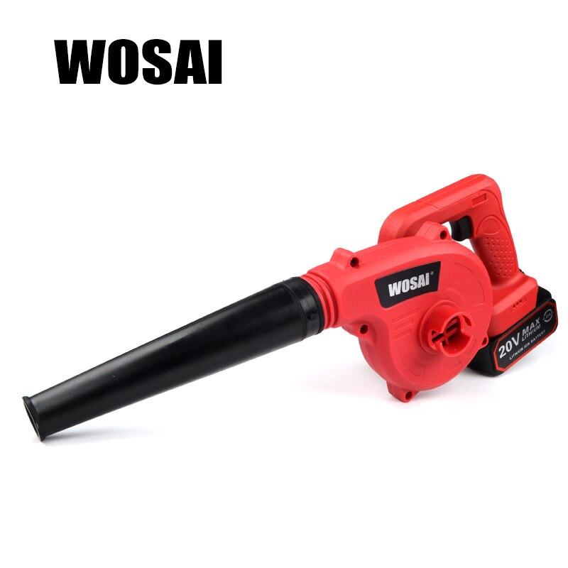 WOSAI 20 В в литиевая батарея беспроводной воздуходув Электрический воздуходувы промышленного класса