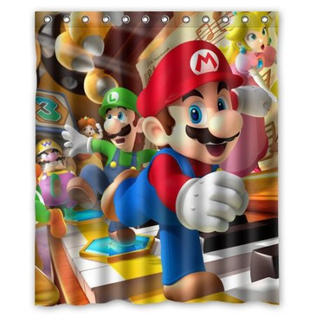 Bathroom Collection Colorful Super Mario Bros 160x180cm Waterproof Decorative Shower Curtain With Hook