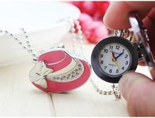 Chaoyada Марка карманные часы Розничная продажа 1 шт. Модные Высокое качество Ретро сплава бабочка шляпа карманные часы Цепочки и ожерелья