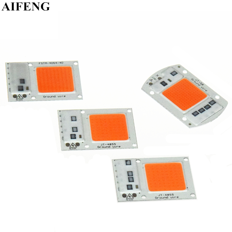 AIFENG <font><b>Led</b></font> <font><b>Grow</b></font> Light <font><b>COB</b></font> <font><b>Led</b></font> Chip AC 220V 15W 20W 30W <font><b>50W</b></font> DIY <font><b>Grow</b></font> Light <font><b>Full</b></font> <font><b>Spectrum</b></font> 380nm-840nm For Plant Greenhouse Flowers image