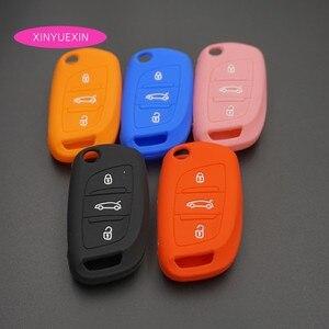 Image 2 - Xinyuexin غطاء مفتاح سيارة سيليكون فوب الحال بالنسبة لسيتروين C2 C3 C4 كوبيه VTR بيرلينجو C6 C8 الوجه البعيد مفتاح السيارة سيارة التصميم