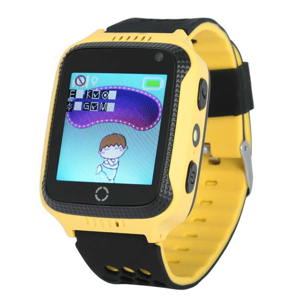 "1.44"" Touch Screen Kids Smart Wrist Watch GPS Tracker SOS Dual Way Call Anti-lost Real Time GPS/LBS Locator With Pedometer"