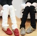 Bebés de las polainas más cálido invierno de punto bebé niños calentadores de la pierna de las polainas Boot cubierta #352