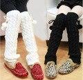 Bebê meninas Leggings inverno quente malha bebê crianças polainas Leggings Boot 352