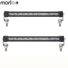 Marloo 2X 9 inch Mini Single Rows LED Light Bar 10w Spot Led Work Driving Lamp 12V 24V White DRL 4X4 Car SUV Offroad Lights(China)