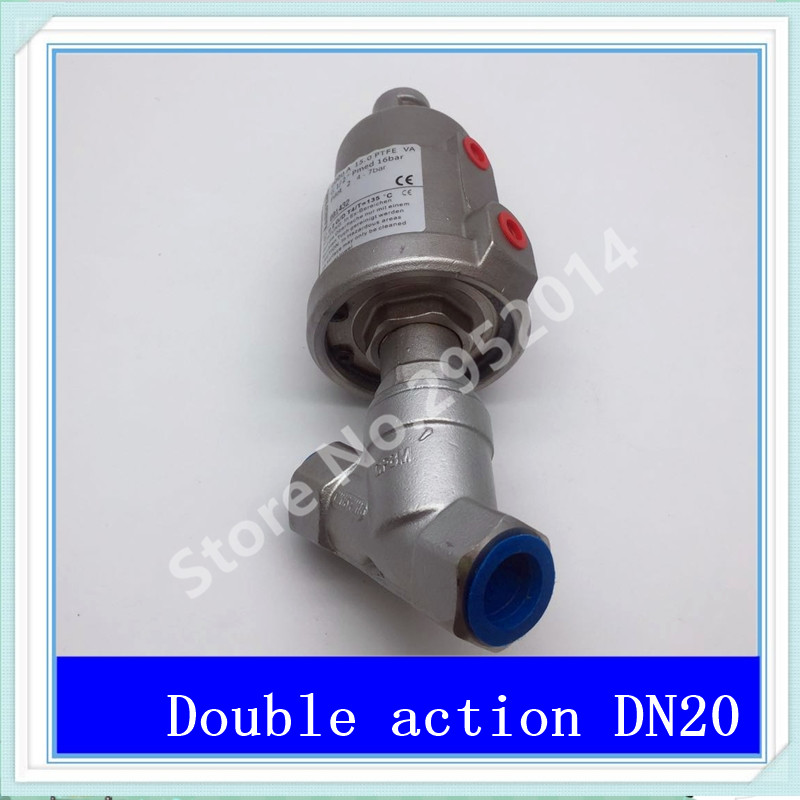 DN20 304 stainless steel pneumatic Angle seat valve with high temperature steam Y type Angle seat valve 2 DN-20 Stainless steel