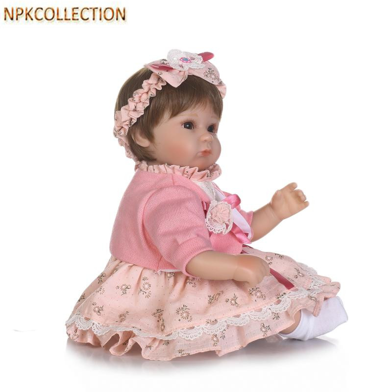 Фотография NPKCOLLECTION 37CM Mini Reborn Dolls Baby Alive Soft Toys for Children Playmate Gifts,15 Inch Silicone Real Doll with Clothes