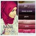 10 unids/lote mujeres foulard bufandas sólido básico maxi cabeza chales wraps soft largo islámico musulmán hijabs de la bufanda viscosa liso