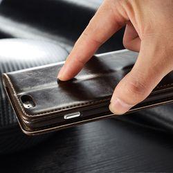 Original Brand Leather Case sFor Fundas Apple iphone SE 5 5G 5S Case iphone 6 6S case 6 6s Plus coque Wallet Flip Phone Cover 3