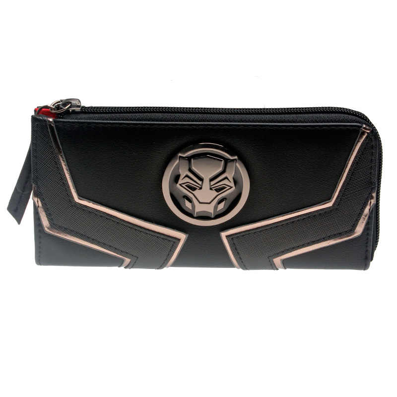 Black Panther Zip Around Wallet Satchel Clutch Purse  DFT-5511