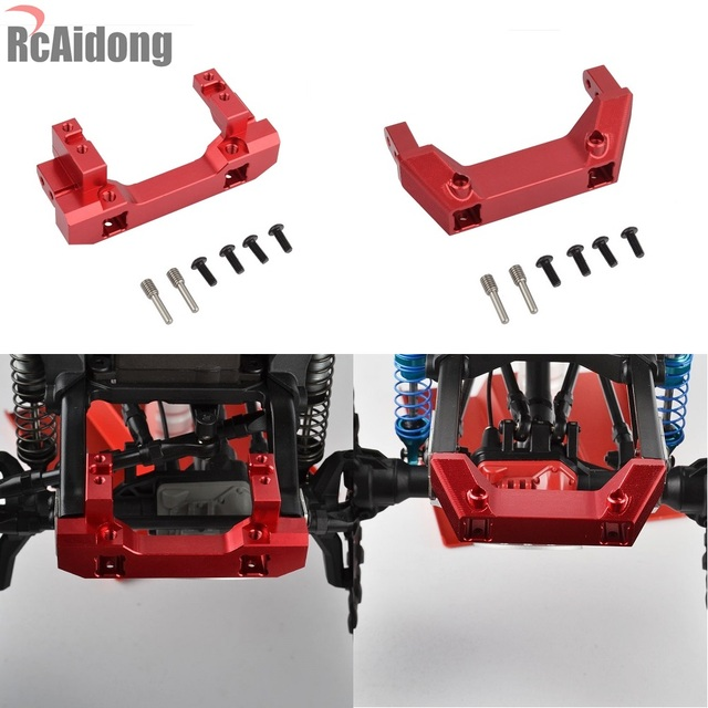 1/10 RC Alloy Front Servo Stand Rear Bumper Mount For 1:10 RC Crawler Traxxas Trx4 TRX 4 Upgrade Parts