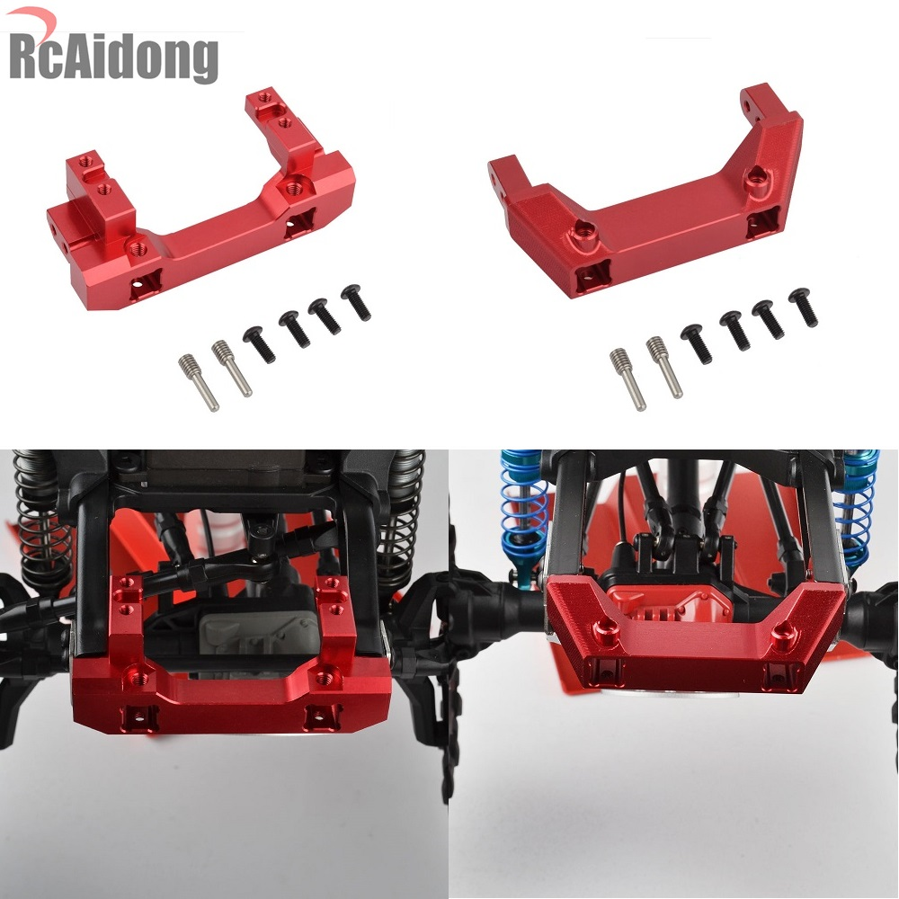 1PCS 1/10 RC Alloy Front Servo Stand And Rear Bumper Mount For 1:10 RC Crawler TRX4 Traxxas TRX-4 Car mxfans rc 1 10 2 2 crawler car inflatable tires black alloy beadlock pack of 4