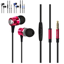 HUAST HD HiFi In-Ear Earphone Earpieces 3.5mm Bass Stereo Music Earbuds Mini Headset with Microphone for Cell Phone Tablet PC