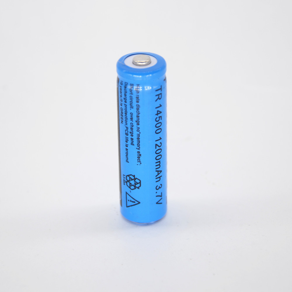 10pcs 14500 3.7V 1200mAh Li-ion Rechargeble Battery Batterie 14500 battery 3.6v
