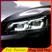 KOWELL Car Styling for VW Passat B7 US Verson 2012 2016 Headlight For Passat B7 Headlight DRL D2H dynamic turn signal Hid Bi Xen