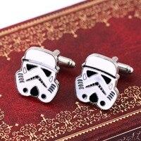 H&F 5pcs/lot Movie Star wars cufflinks Galactic Empire Imperial  Stormtrooper Mask shirt cufflinks for mens high quality trinket