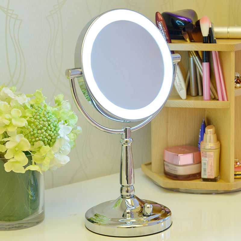 Professional Makeup Mirror With Light 7 Inch Led Compact