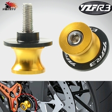 CNC For Yamaha YZF R3 r3 2015 M6 swing arm Sliders Motorcycle Swingarm Spools stand screws Slider 6MM Stand Screws motobike