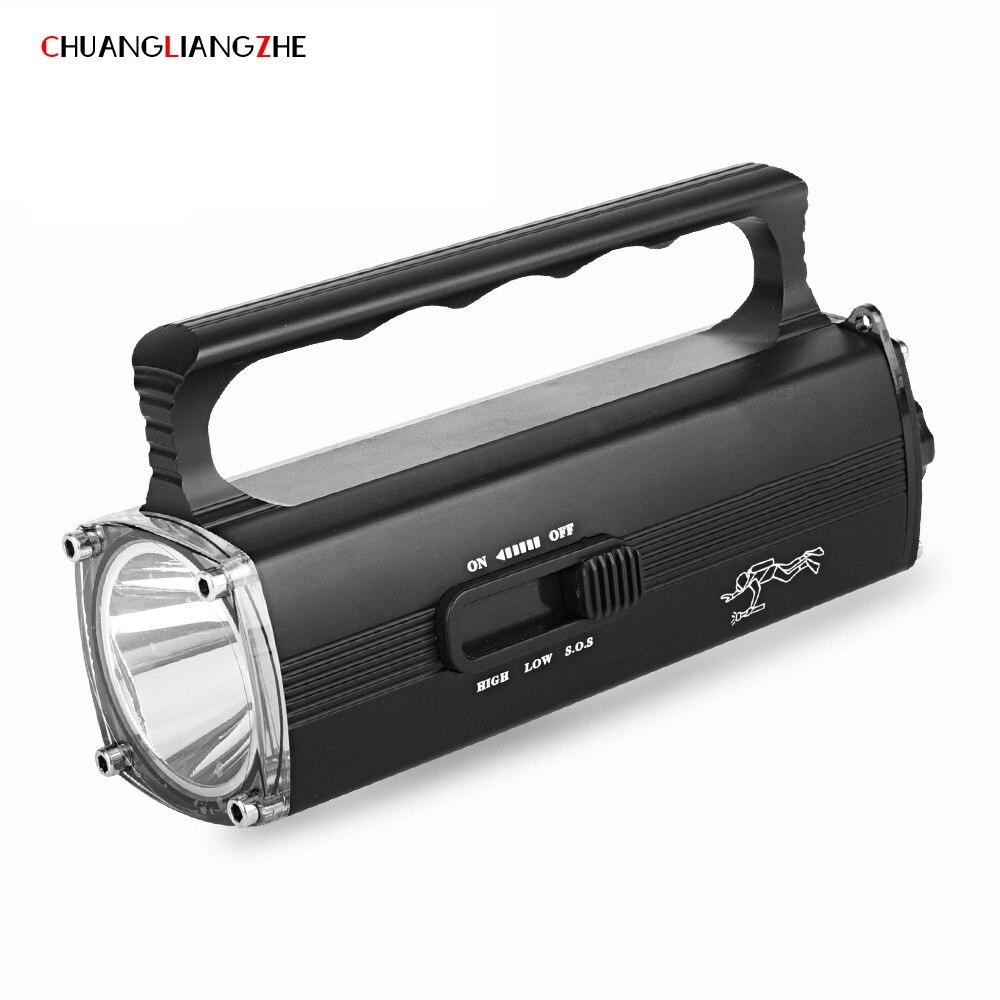 CHENGLIANGZHE Portable Lantern High Power Diving LED Flashlight Outdoor Lighting Long Shot Waterproof Rechargeable Luminarias