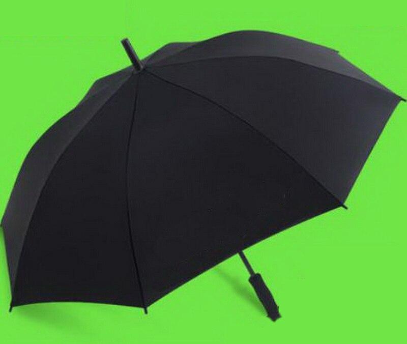 Parapluie cadeau homme automatique surdimensionné à long manche/parapluie à poignée incurvée semi-automatique/chapeau parapluie étanche/181136