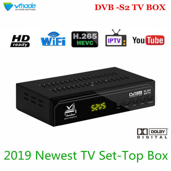 цена на Vmade DVB-S2 H.265 Super TV Receiver Support AC3 Cccam Biss Youtube IPTV WIFI 3G HD Digital Satellite TV Tuner Set-Top Box