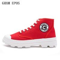 GRAM EPOS Spring Summer Men Red Black White Casual Shoes Men High Tops Fashion Hip Hop