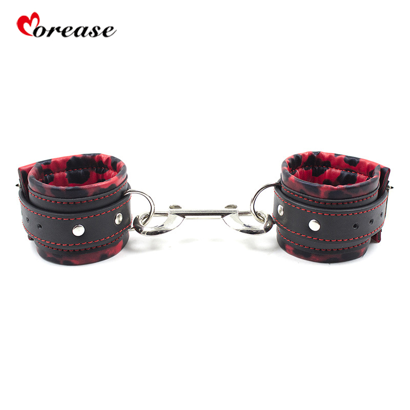 Morease Adult Sex Toy Leather Handcuffs Bondage Hand Restrainted Cuffs Slave Game Play Couples Men Women Fetish Room Game Erotic