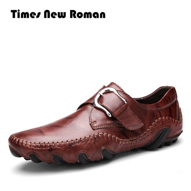 Times New Roman Mode Herbst Stil Weichen Mokassins Männer Faulenzer Hohe Qualität Aus Echtem Leder Schuhe Männer Wohnungen