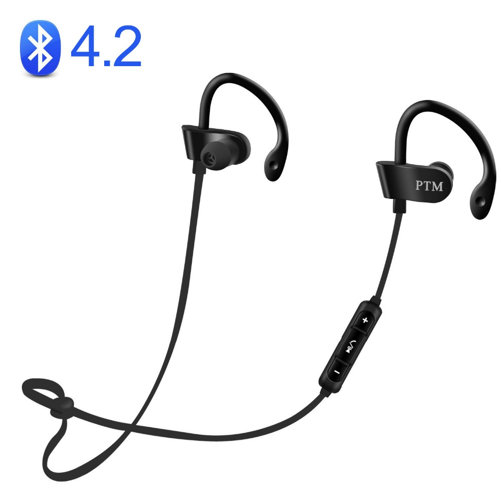 Original PTM B27 Earphone Wireless Bluetooth 4.2 Headset with Microphone Earbuds for Earpods Airpods original xiaomi earphone mi earbuds hybrid pro hd dynamic balanced armature headset with microphone earpods airpods