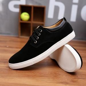 Image 2 - Sneakers men shoes 2020 new fashion suede casual flats shoes men sneakers lace up breathable solid men shoes zapatillas hombre