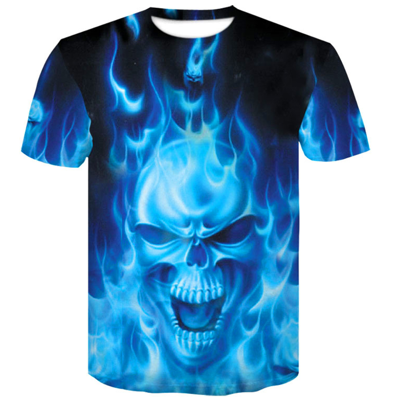 one piece menswear 2019 skull 3D T Shirt Summer Mens Fashion Tops Male Print Men Women brand casual men 39 s shirt Anime T Shirts in T Shirts from Men 39 s Clothing