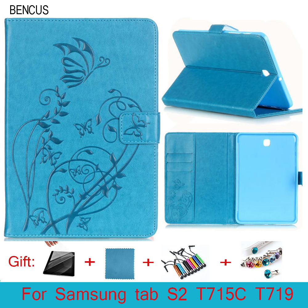 BENCUS fashion PU leather smart case For Samsung Galaxy Tab S2 8.0 SM-T719c T715 Tablet case cover High quality + Pen