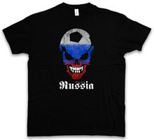 RUSSIA RUSSIAN Footballer SOCCER SKULL FLAG T-SHIRT - russian Fan Hooligan Free shipping Harajuku Tops t shirt Fashion Classic