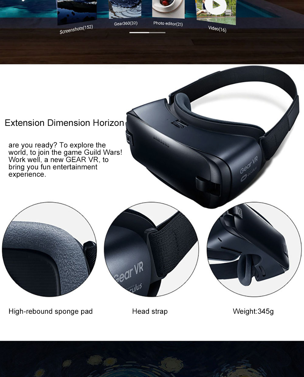 Gear VR 4.0 3D Glasses Gyro Sensor Virtual Reality Helmet Built For Samsung Galaxy Note 7 S6 S6 Edge+ S7 S8 S8plus S9  S7Edge