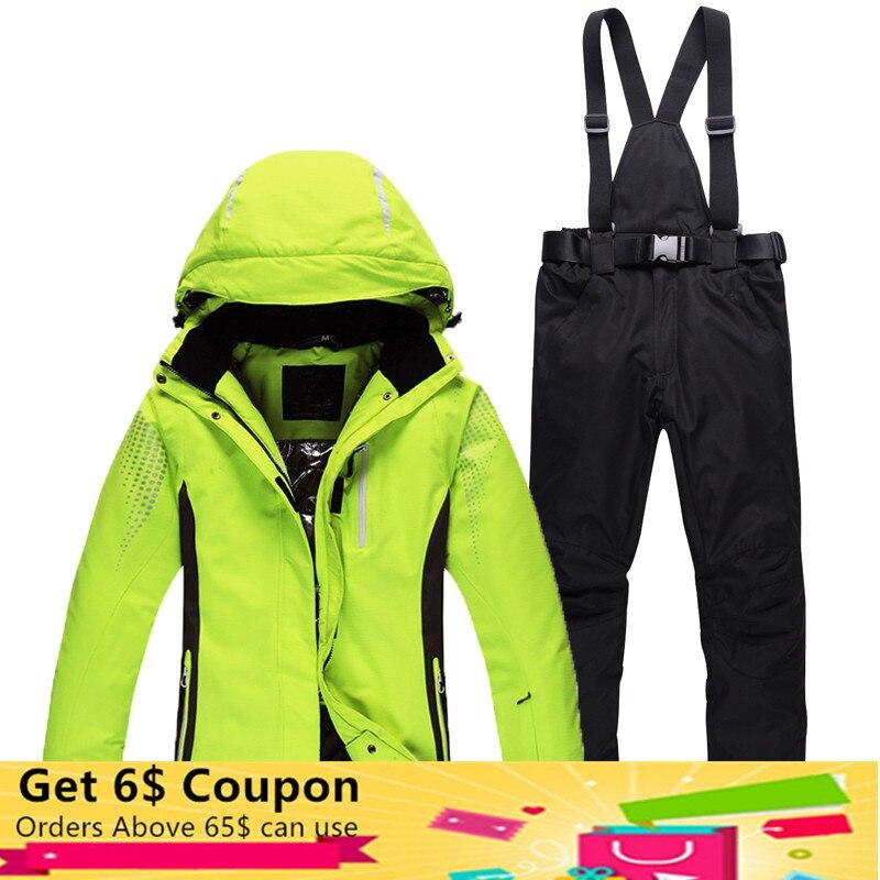 Nouveau Ski Costumes Pour Hommes Et Femmes En Plein Air Snowboard Ski Veste Pantalon Masculin Féminin Randonnée Veste Couples/Lovers Hiver vêtements Ensemble
