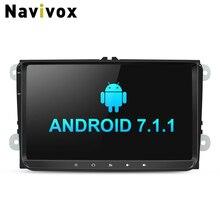 Navivox 9 дюймов 2 DIN ОЗУ 2G Автомобильный Мультимедийный Плеер withndroid7.1 видео плеер автомагнитола для автомобиля vw t5 B6 Гольф для Skoda GPS навигации