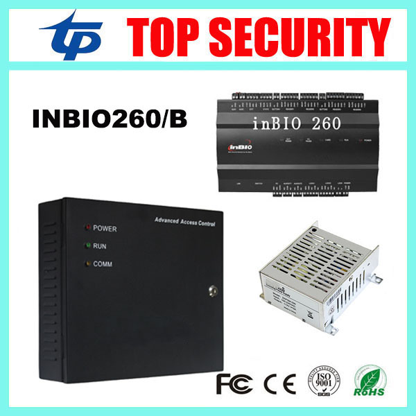 High security inbio260 2 doors biometric fingerprint access control panel board with battery function power supply box biometric fingerprint access controller tcp ip fingerprint door access control reader
