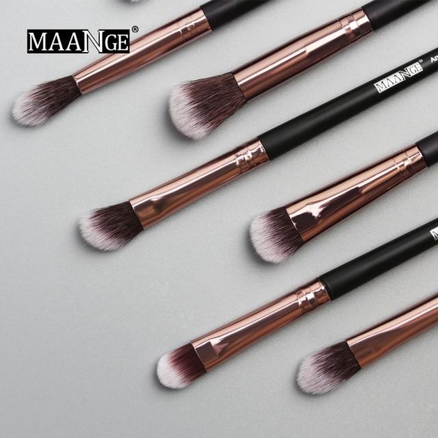 MAANGE new makeup brush 12 PCS professional mixed eye shadow eyebrow brush makeup beauty set 2