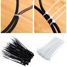 Галстуки, 100 шт. кабельные стяжки, устойчивые к ультрафиолетовым погодным воздействиям нейлоновые стяжки на молнии, черные стяжки