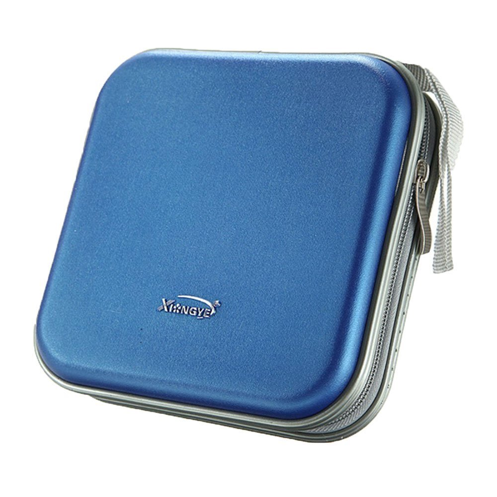 CD VCD DVD Organizer Square Case Storage Holder Blue