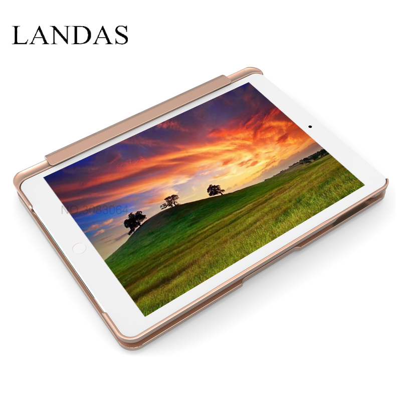 Landas For iPad Pro 9.7 Keyboard Case Aluminum Alloy Slot Cover For iPad Air 1 Case Keyboard Bluetooth Backlit For iPad 9.7 Inch for ipad air keyboard case wireless bluetooth keyboard with aluminum led backlit abs keys for apple ipad 5 air 1 f8s keyboard