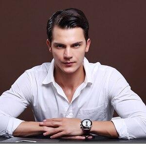 Image 3 - Relogio masculino megir 캘린더 크로노 그래프 밀리터리 시계 남성 캐주얼 스포츠 정품 가죽 시계 시간 시계 남성