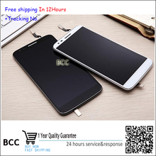 Top quality Black white Touch Screen LCD display with frame For LG G2 d802 d805 Test