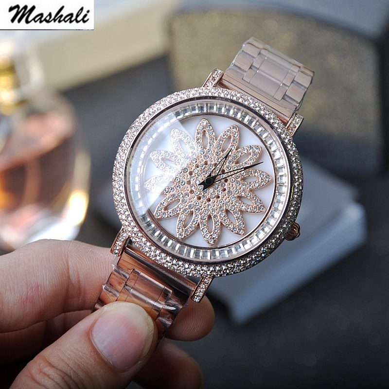 Mashali Brand Luxury Fashion Crystal Women Bracelet Watch Female Diamond Dress quartz Watch Ladies Rhinestone Wristwatches brand diamond rose gold women rhinestone watch female butterfly fashion steel women quartz bling dress watch for ladies bracelet